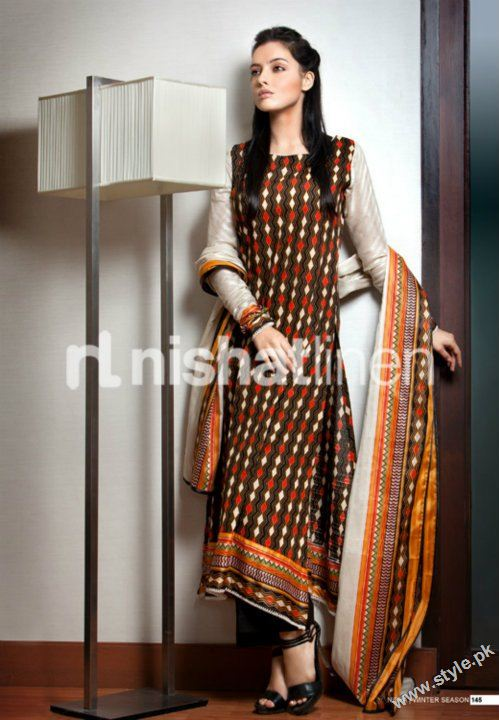 Nisha Winter Collection 2011 2012 by Nishat Linen style.pk 004 fashion brands