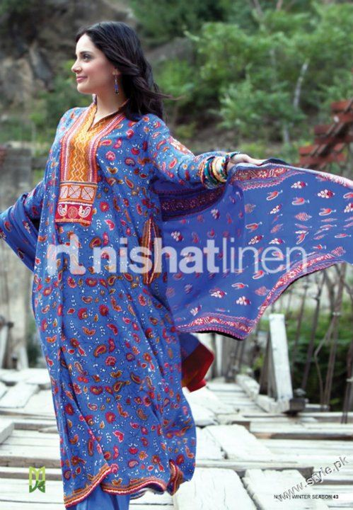 Nisha Winter Collection 2011 2012 by Nishat Linen style.pk 006 fashion brands