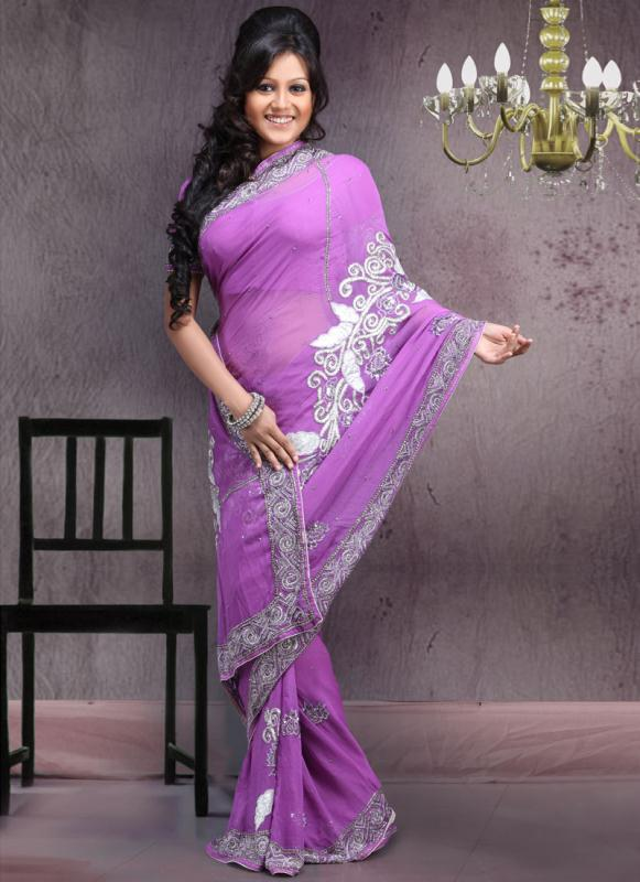 Purple sarees for women 2011-12 fall collection