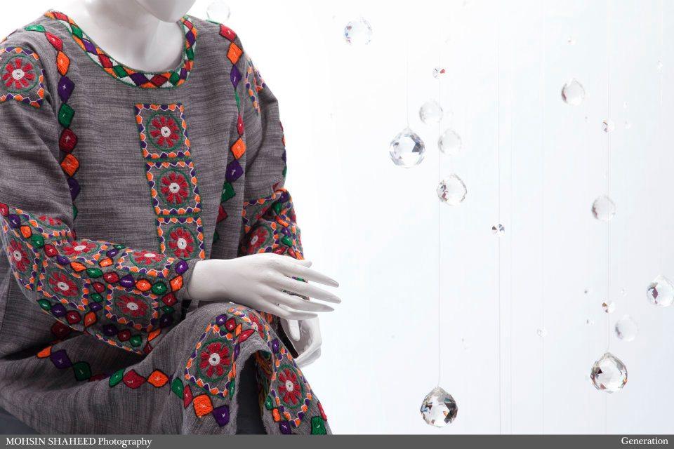 b8bc55c2f1 Latest fashion winter dresses for Pakistani women 2011-2012. Source:  Generation