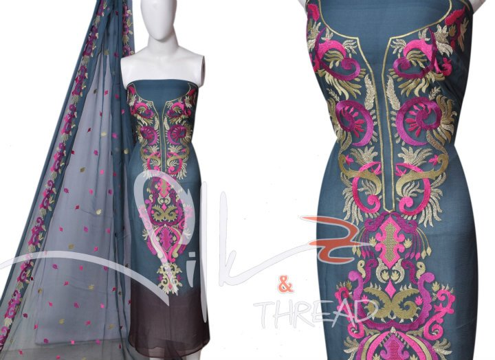 Latest Embroidery Dresses for Women by Silk and Thread 01 designer dresses
