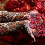 Latest Mehandi Art For Brides With Studded Stones 2012