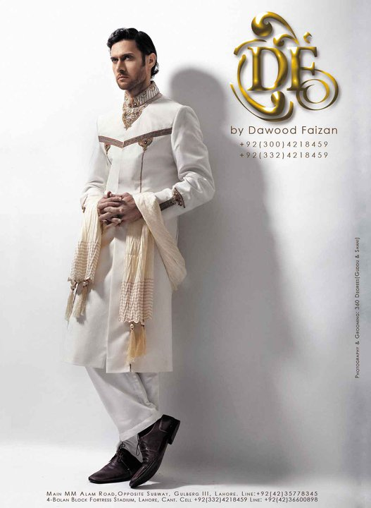 Dawood Faizan Kurta and Sherwani Designs For men 2012 a men wear