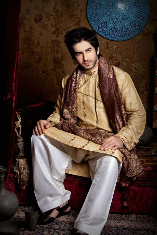 Dawood Faizan Kurta and Sherwani Designs For men 2012 b men wear
