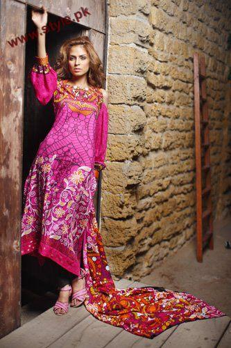Firdous Linen Designer Collection For Winter 2012 001 for women local brands firdous cloth mills