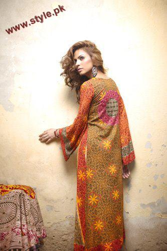 Firdous Linen Designer Collection For Winter 2012 002 for women local brands firdous cloth mills