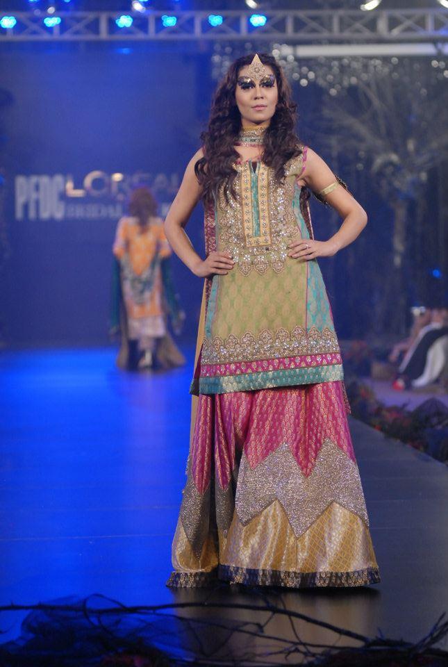 Karma bridal dresses in PFDC L\'Oreal Paris Bridal Week 4