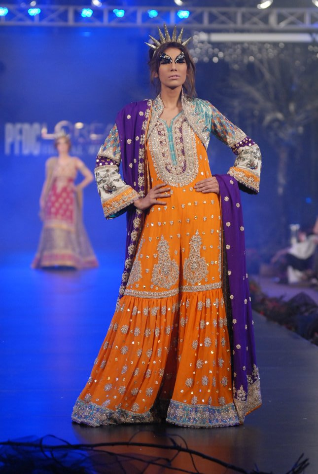 Karma bridal dresses in PFDC L\'Oreal Paris Bridal Week 6