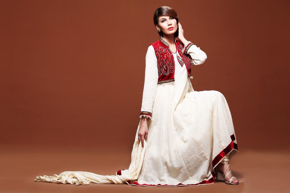 Latest fashion winter dresses for women 2012 by Kashish