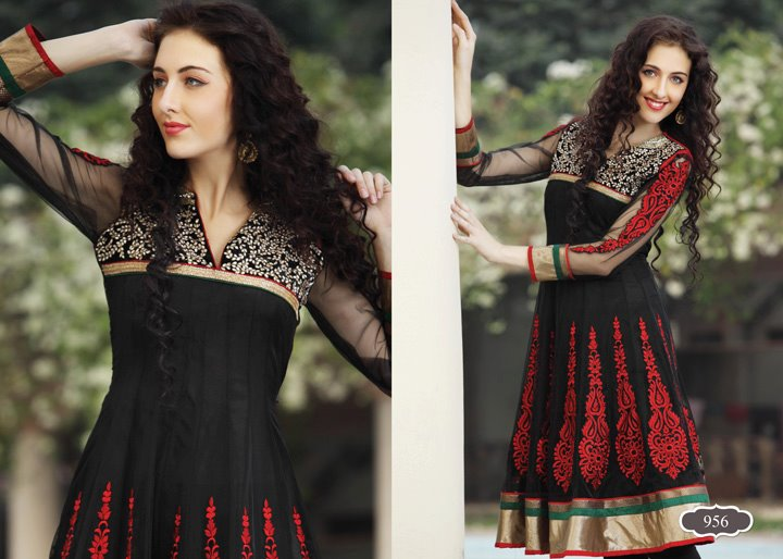 Party wear frock and churidar fashion 2012 for women in pakistan