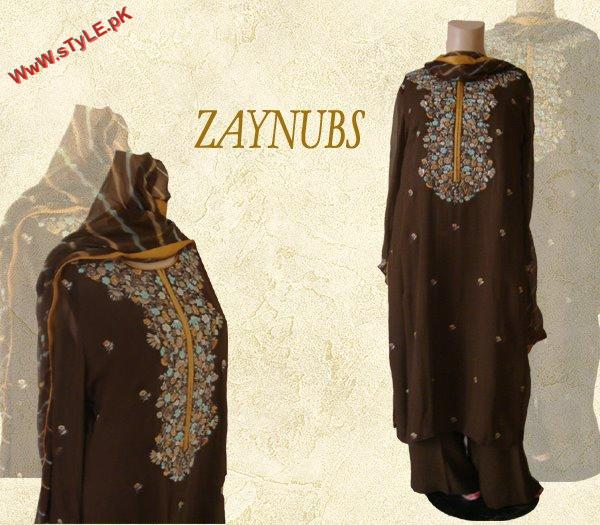 Latest Formal Wear Collection for Winter By Zaynubs 2012 001 pakistani dresses