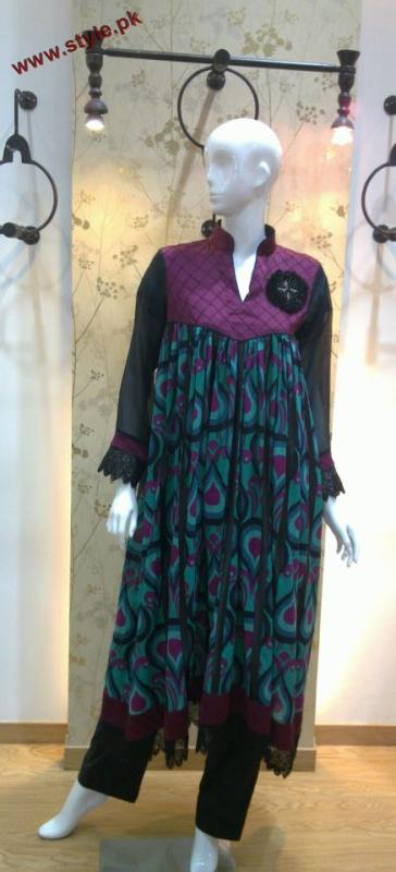 Latest New Winter Dresses By Bonanza Garments 2012 002 pakistani dresses fashion brands