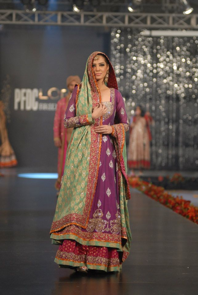 Nida Azwer Collection in PFDC LOreal Paris Bridal Week a wedding wear