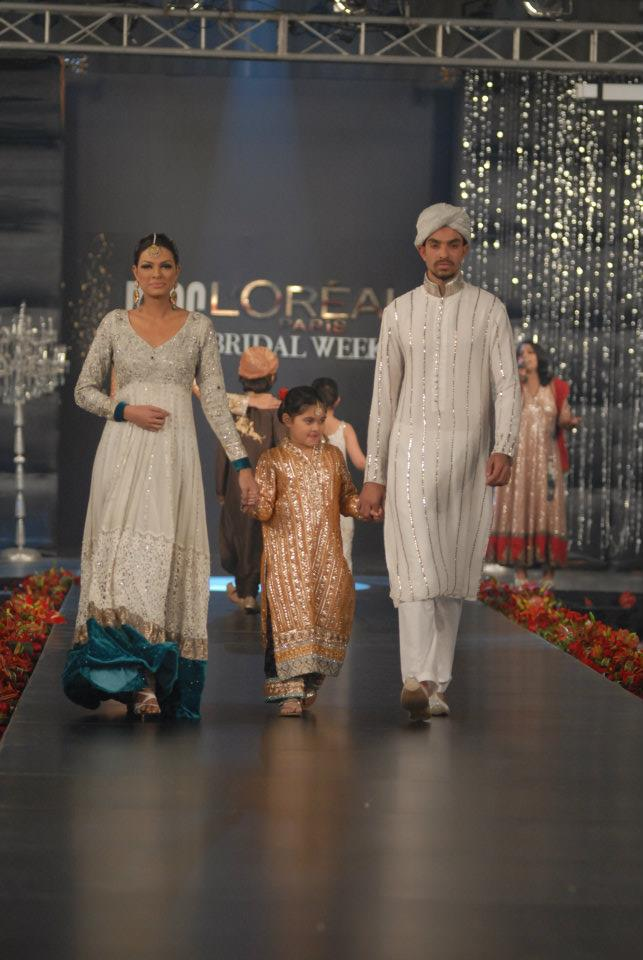 Nida Azwer Collection in PFDC LOreal Paris Bridal Week b wedding wear