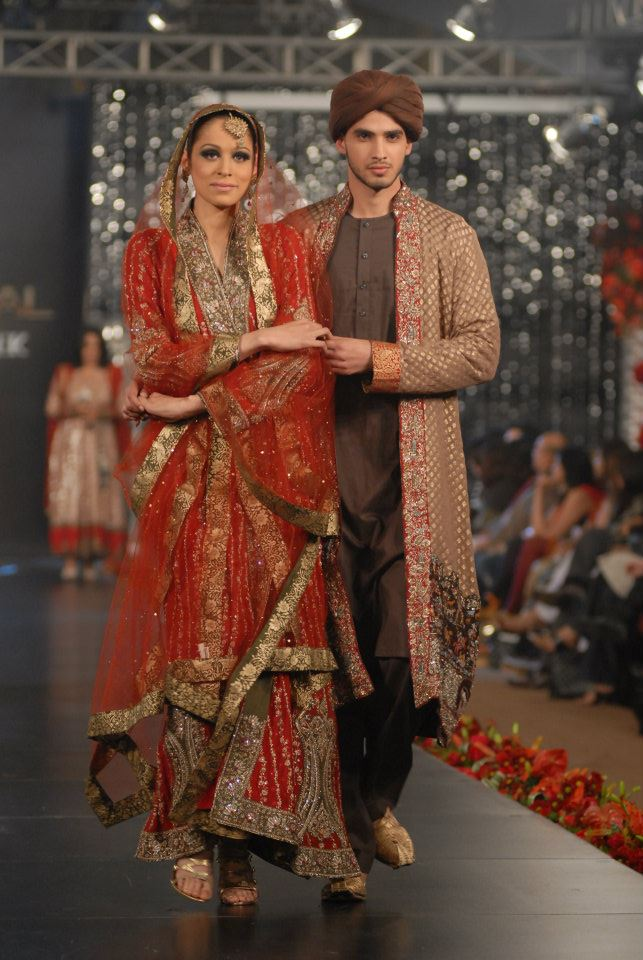 Nida Azwer Collection in PFDC LOreal Paris Bridal Week c wedding wear