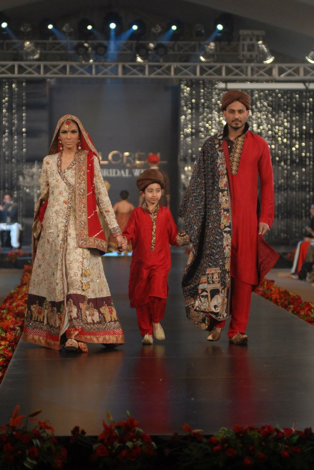 Nida Azwer Collection in PFDC LOreal Paris Bridal Week g wedding wear