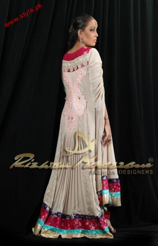 Rizwan Moazzam Latest Party Wear Collection 2012 001 pakistani dresses