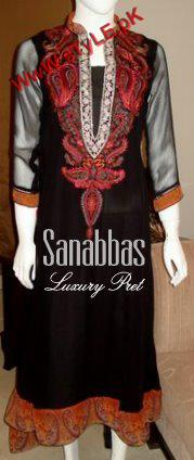 Sana Abbas Winter Pret Collection For Women 2012-007