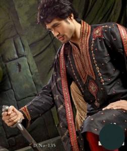 black kurta shalwar for men (4)
