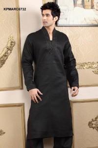 black kurta shalwar for men (3)