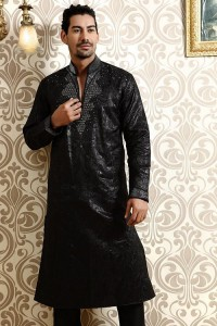 black kurta shalwar for men (2)