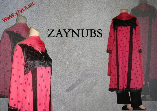 Zaynubs Winter Evening Wear For Women 2012 005 pakistani dresses