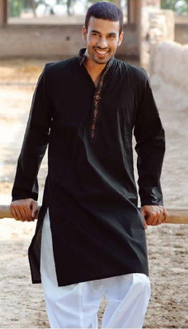 Collection Of Latest Designed Black Kurta Shalwar For Men