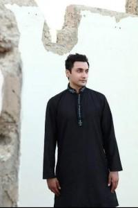 black kurta shalwar for men (9)