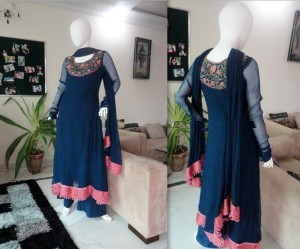 latest collection of party wear dresses for girls by stylish fashion 001 300x249 local designer clothes for women