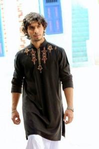 black kurta shalwar for men (8)