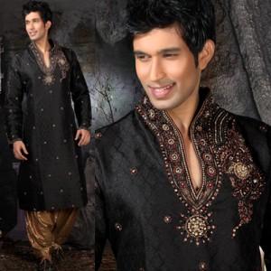 black kurta shalwar for men (5)