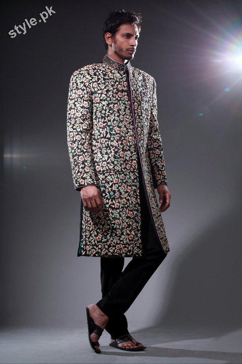 Arsalan Yahseer Latest Groom Sherwani Collection 2012 1 men wear