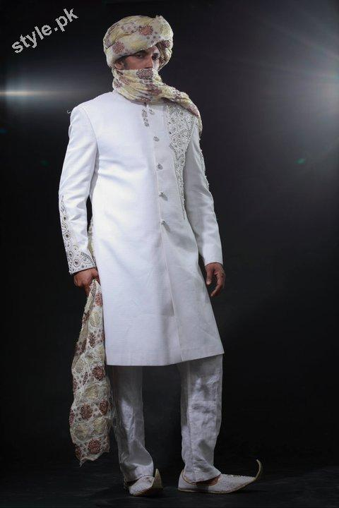 Arsalan Yahseer Latest Groom Sherwani Collection 2012 2 men wear