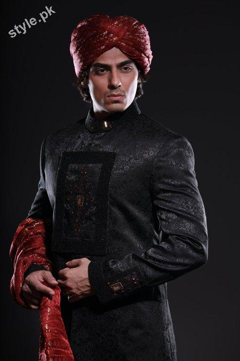 Arsalan Yahseer Latest Groom Sherwani Collection 2012 3 men wear