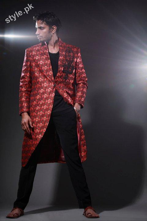 Arsalan Yahseer Latest Groom Sherwani Collection 2012 5 men wear