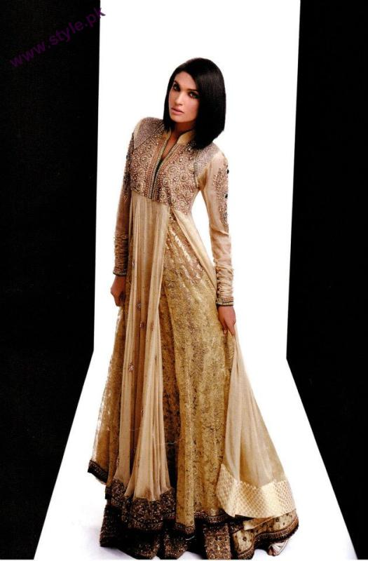 Latest Bridal Dresses By Hina Khan Collection 2012