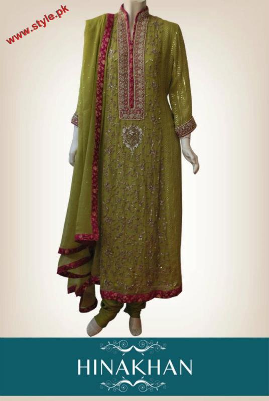 Latest Party wear Dresses By Hina Khan 2012 005 for women local brands