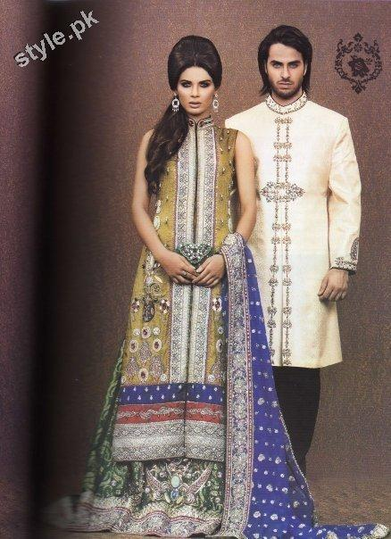 Latest fashion Walima dresses 2012 in Pakistan 11