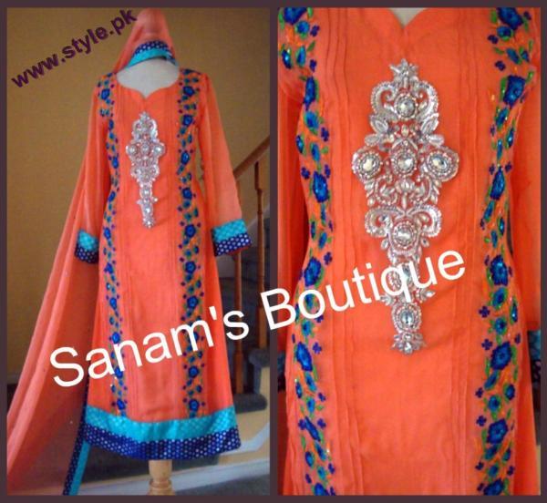 Sanams Boutique Latest Party Wear Collection 2012