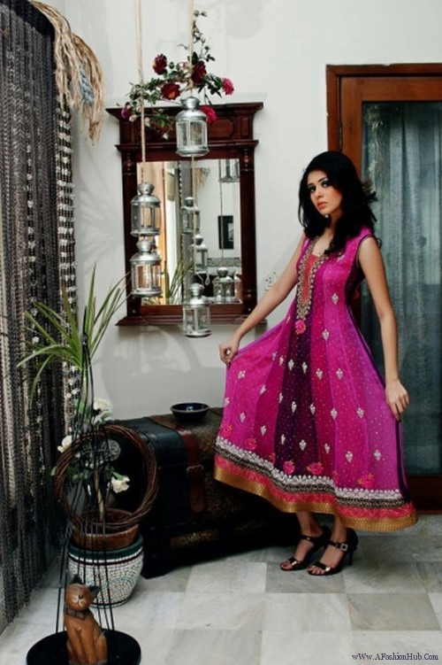 latest collection of frocks 2012 for girls 014