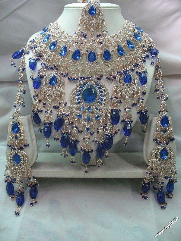 LATEST MULTI COLOUR INDIAN BRIDAL JEWELLERY SETS 2012