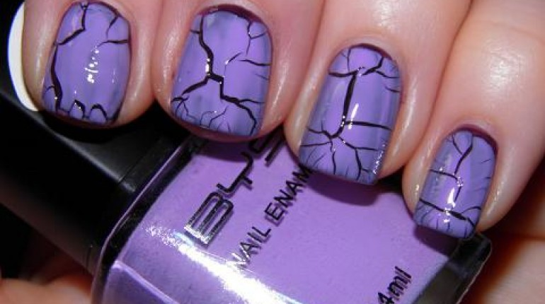 New Crackle Nails Art For Girls