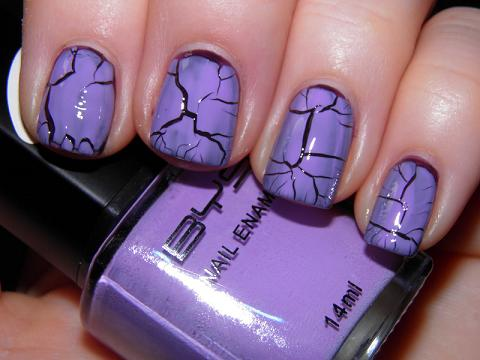New Crackle Nails Art For Girls_006