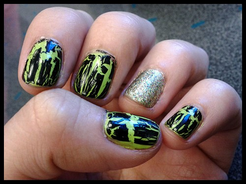 New Crackle Nails Art For Girls_005