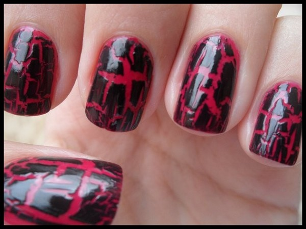New Crackle Nails Art For Girls_004