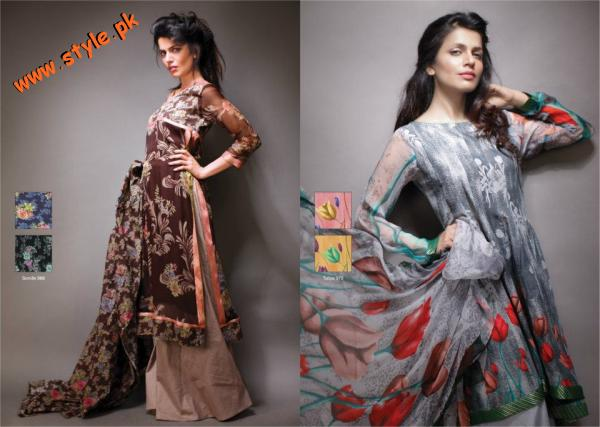 Latest Al Karam Textiles Chiffon Collection 2012 004 for women local brands al karam textiles