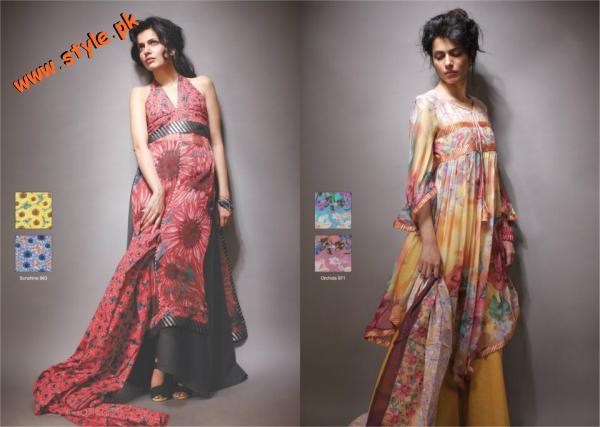 Latest Al Karam Textiles Chiffon Collection 2012 005 for women local brands al karam textiles
