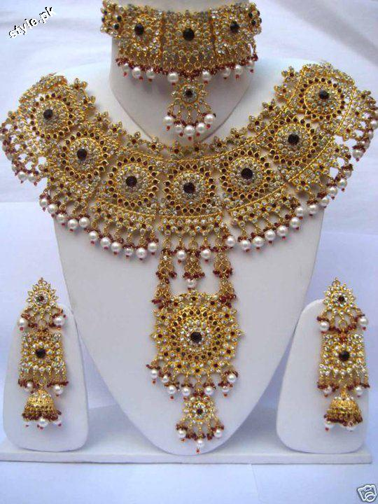Latest Bridal Jewellery designs 2012 in Pakistan 10 wedding wear jewellery