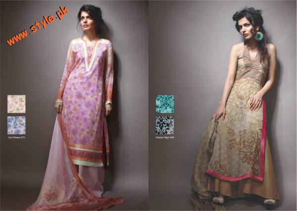Latest Chiffon Dresses By AL Karam For Summer 2012 006 for women local brands al karam textiles