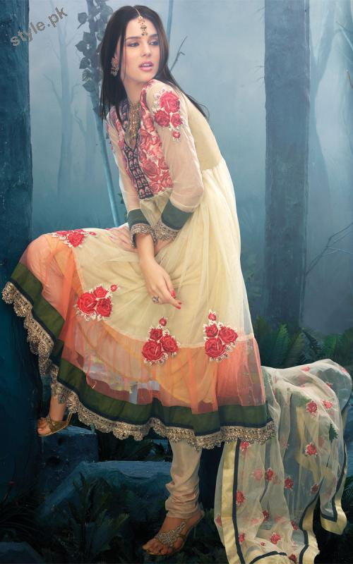 Latest Fashion Anarkali Frocks 2012 for Women 1 designer dresses